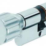 ABUS Profilzylinder mit Knauf KD6XNP Z30/K30 B/SB mit Codekarte und 5 Schlüsseln, 507168 - 1